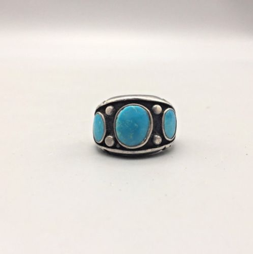 ring, vintage, patina, Native American, sterling silver, turquoise,