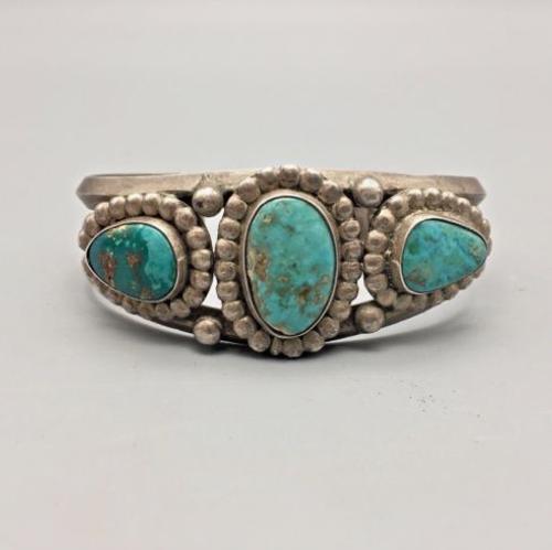 Cerrillos Turquoise cuff bracelet