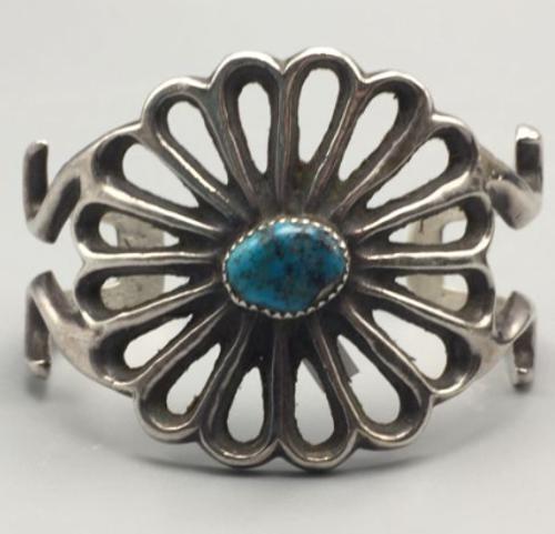 sandcast cuff bracelet