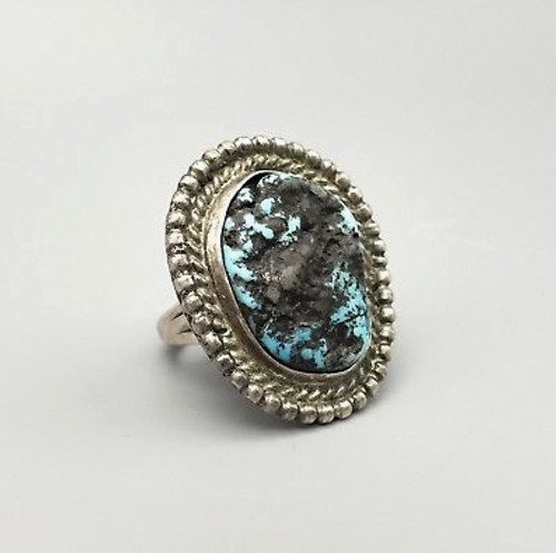 rough cut turquoise ring