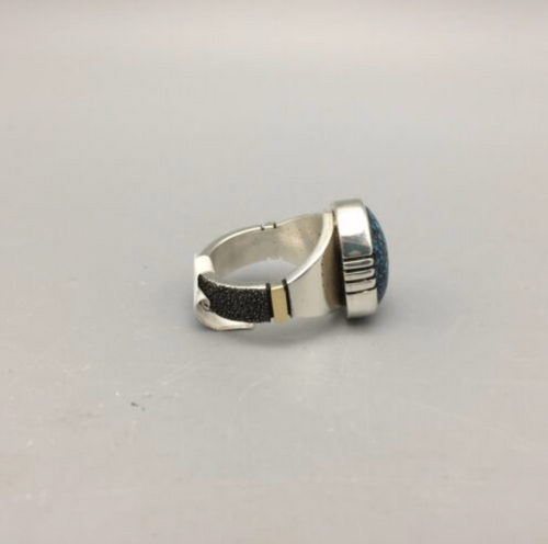 Lander Blue Sterling Silver Ring