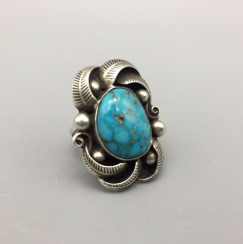 ring, turquoise, sterling silver, vintage