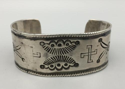 Hand-Stamped, Ingot, Handmade, Navajo Cuff Bracelet
