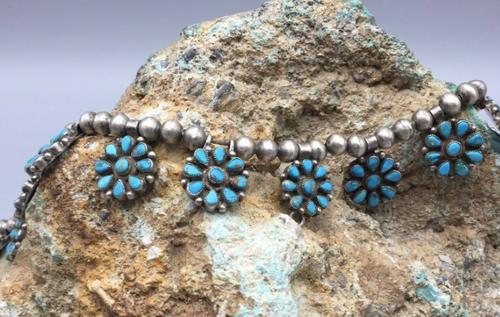 14 turquoise cluster pendants