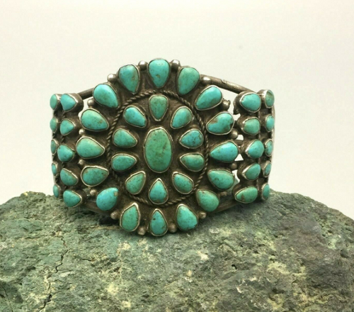 Beautiful turquoise cluster cuff