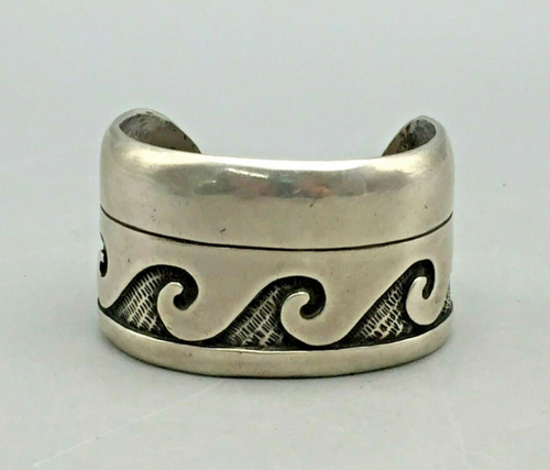 Rare sterling silver Hopi overlay cuff