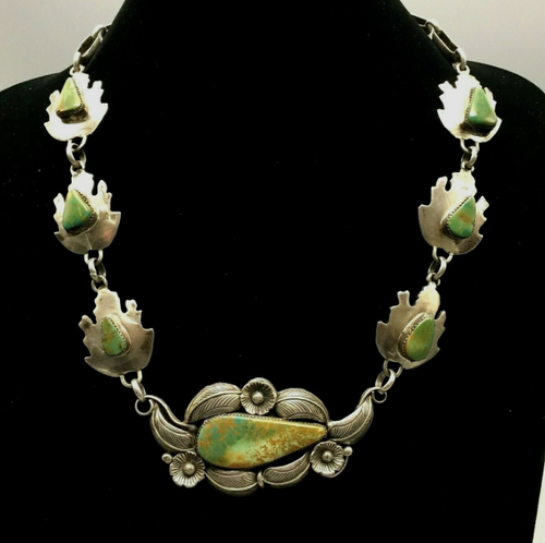 Vintage green turquoise necklace