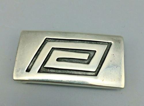 Sterling silver overlay belt buckle