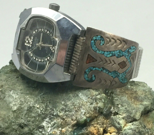 Chip inlay watch band