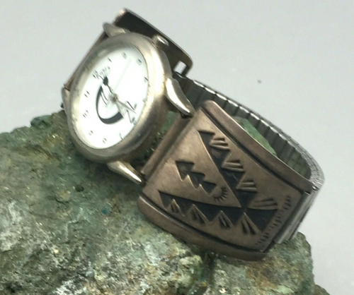 Silver overlay watch band