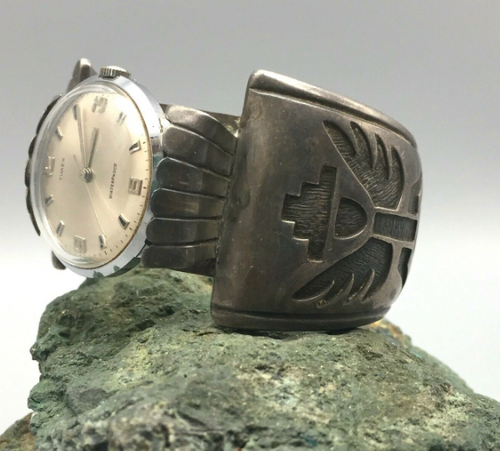 Vintage knifewing watch cuff