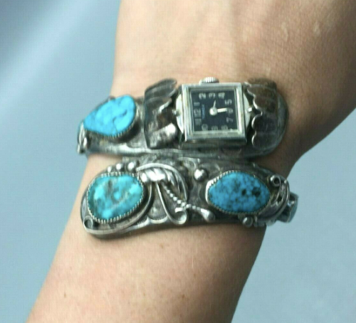 Unique turquoise watch band