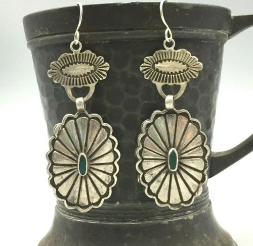 Vintage concho earrings