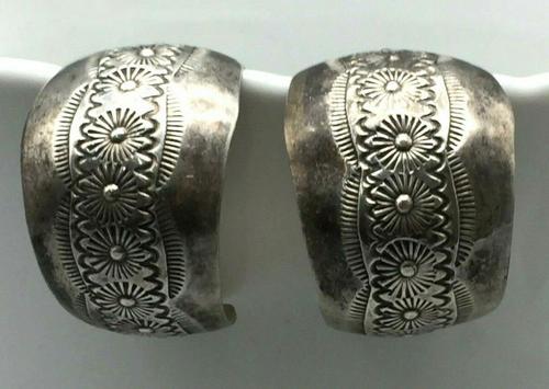 Stamped hoop earrings