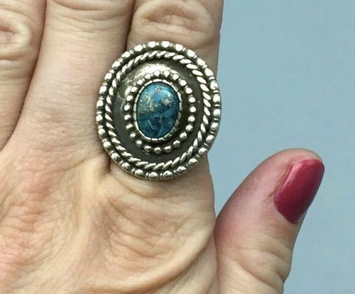 Morenci turquoise ring by Raymond Tsosie