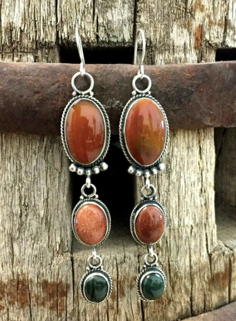 Multi stone earrings