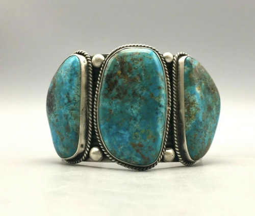 Large turquoise stone cuff