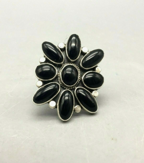 Onyx cluster ring