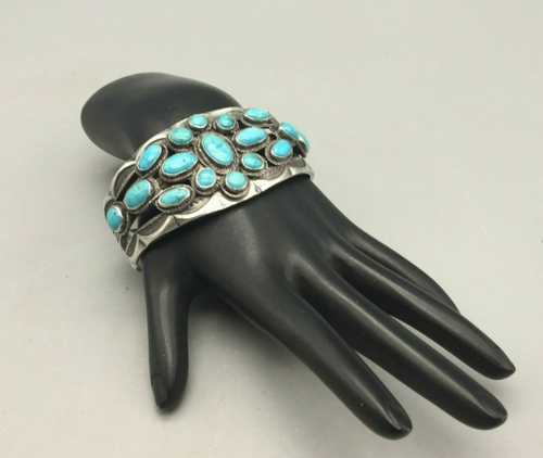 Turquoise cluster style cuff
