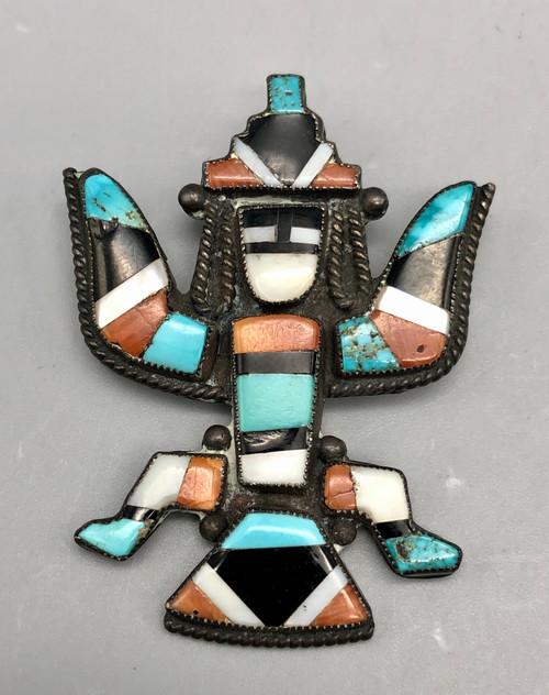 Vintage knife wing pin/brooch