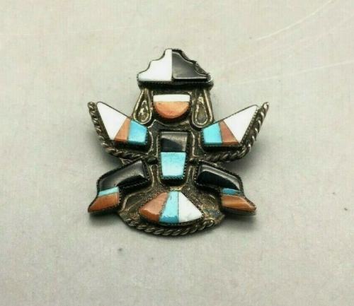 Zuni knifewing pin/brooch