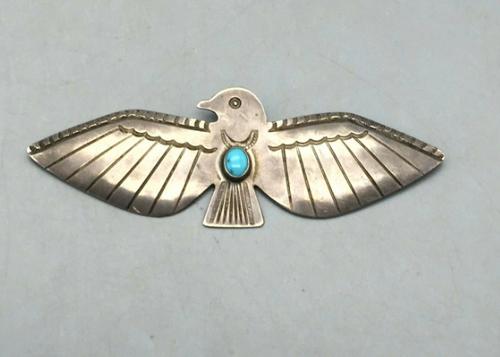 Large thunderbird pin/brooch