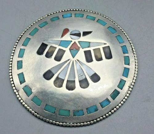 Thunderbird Zuni inlay pendant