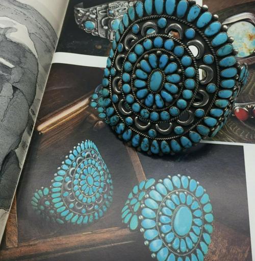 Published turquoise cluster bracelet