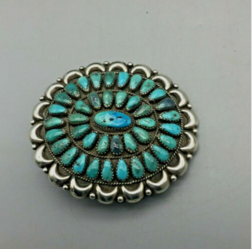 belt buckle, turquoise, sterling silver, Native American