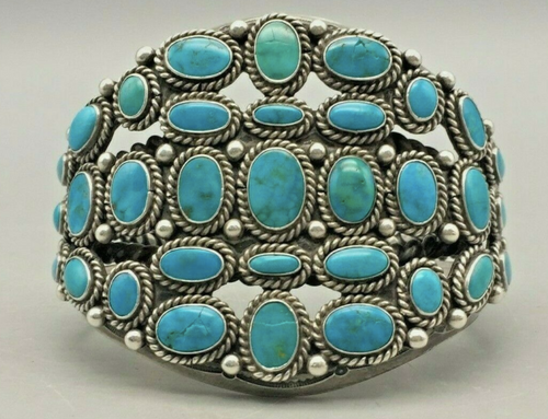Blue gem turquoise bracelet