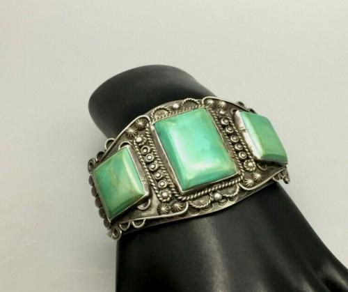 Vintage 3 Stone Turquoise Bracelet