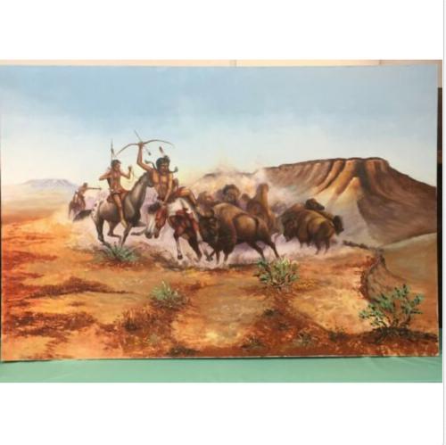 Jimmy Yellowhair, Native American, Navajo, signed, original art, oil painting