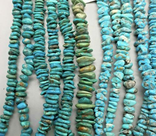 Mixed Kingman turquoise beads