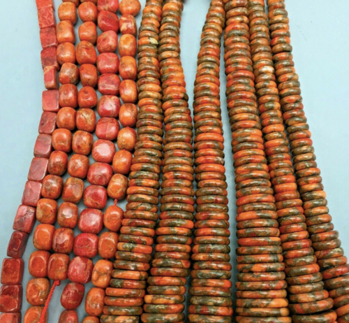 coral beads