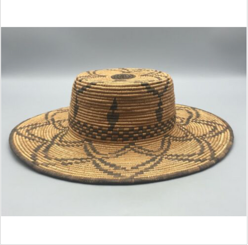 Apache Basket, hat basket, Native American, hand woven
