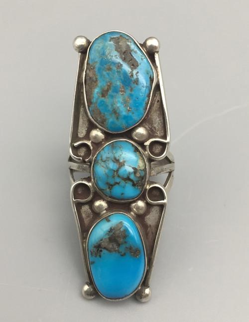vintage three stone ring