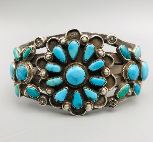 natural turquoise cluster bracelet