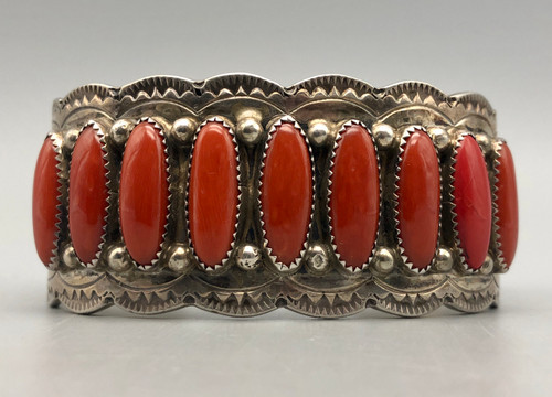 Coral row bracelet