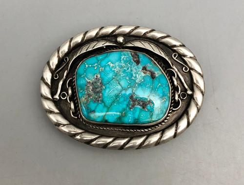 Vintage turquoise buckle