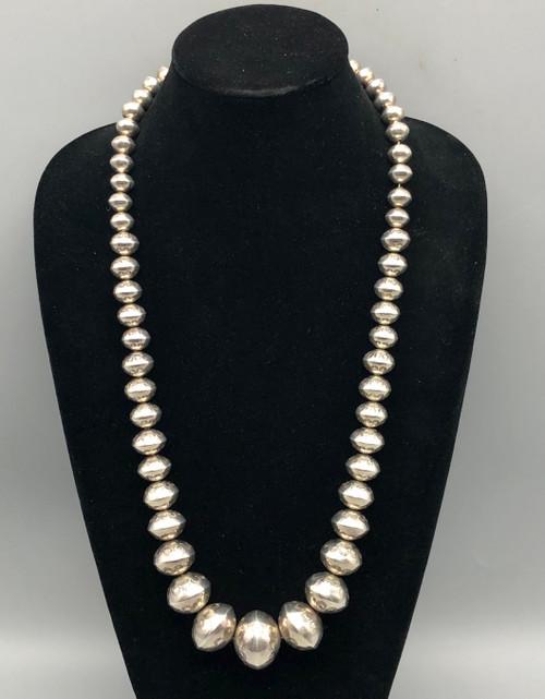 Vintage Graduated Hand Stamped Navajo Pearls
