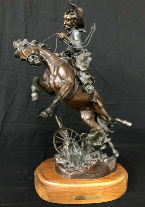 Wild as the Wyoming Wind -A Bronze Sculpture by the Well-Known Artist Vic Payne