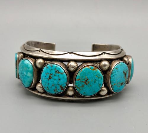 Vintage Six Stone Webbed Turquoise Bracelet