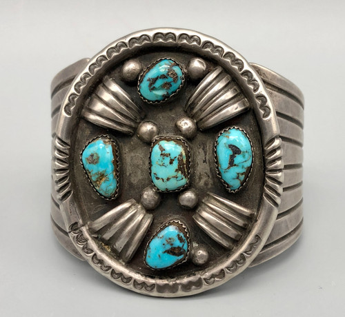 Vintage Pat Chee Turquoise and Sterling Silver Bracelet