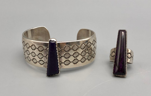 Sugilite and Sterling Silver ring and bracelet
