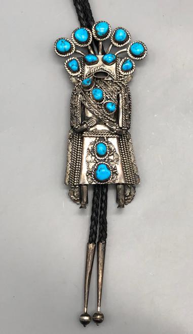Extravagant Kachina Themed Bolo Tie