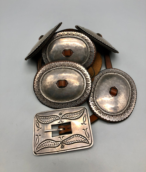 WOWSA! A First Phase Navajo Concho Belt With History