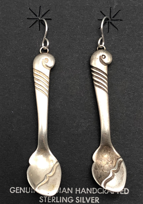 Unique Salt Spoon Earrings by Kenneth Begay