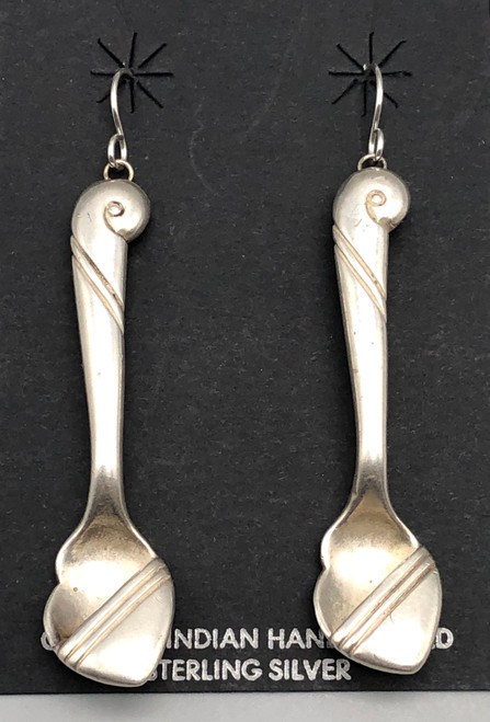Unique Salt Spoon Earrings by George Kee from the White Hogan