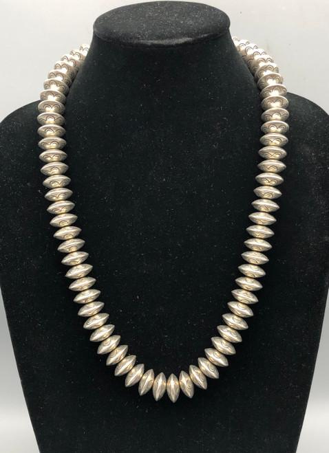 Sensational Stamped Navajo Pearls Necklace