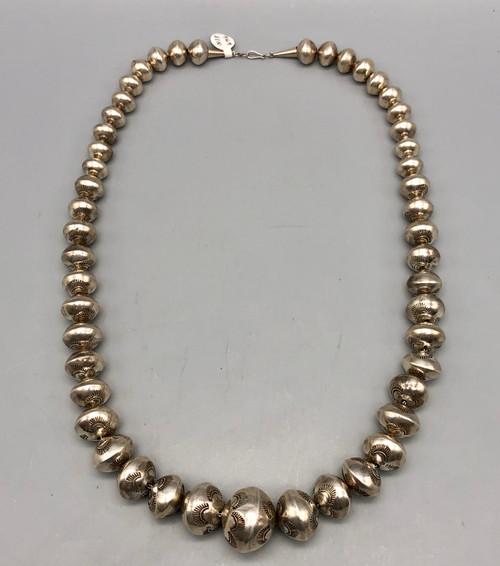 Stylish Stamped Navajo Pearls